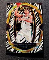 2018 Select ZEBRA Stripe Prizm #120 Giannis Antetokounmpo Basketball Card MINT