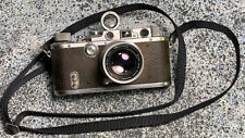 Vintage 1936 Leica IIIa Camera New Shutter 1953 Summicron f=5cm 1:2 Coated Front