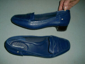 NEW NWOB Rockport adiPRENE by Adidas womens leather loafer shoes sz 8.5 M blue