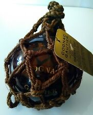 cognac gautier bottle fisherman's float rare Vintage amber color round EMPTY