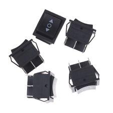 5pcs 6 Pin DPDT Black Button On/Off/On Rocker Switch AC 250V/16A 125V/20A US