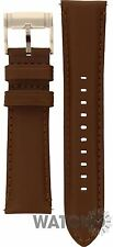 Genuine Brown Leather Replacement Strap For Fossil Watch FS4735