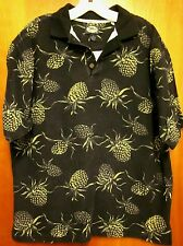 TOMMY BAHAMA classic med polo shirt Pineapples tropical surf Hawaiian fishing