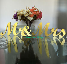 Mr & Mrs letters wedding table decoration freestanding GOLD Mr and Mrs signs for