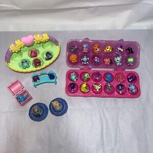 Lot of 33 Hatchimals CollEGGtibles Figures - some RARES - Basket, Carton, Nests
