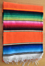 Mexican Sarape Orange, Blanket, Rug, Picnic, Throw, Tablecloth, Hot Rod, Yoga