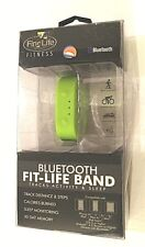 FINELIFE BLUETOOTH FIT-LIFE BAND TRACKS ACTIVITY & SLEEP GREEN ADJUSTABLE NIB