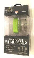 Finelife Bluetooth Fit-Life Band Tracks Activity & Sleep Green Adjustable Nib