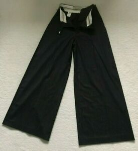 Paul Smith Ladies Navy Pinstripe Culottes Trousers