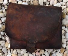 "Scarce Rare Antique Civil War Leather Document Carrier "" The Farmington Shoppe """
