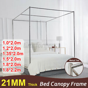 Four Corners Stainless Steels Bed Canopy Frame Mosquito Netting Curtain Bracket