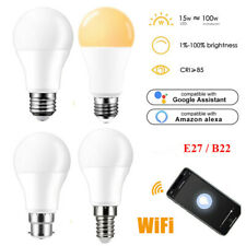 E27/B22 Smart LED Light Bulb Wireless WiFi App Control Compatible Google & Alexa