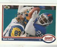 FREE SHIPPING-MINT-1991 Upper Deck #320 Mark Collins Giants PLUS BONUS CARDS
