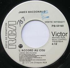 **JAMES MacDONALD L'accord au cou MODERN SOUL PROMO Obscure RARE Canada 45