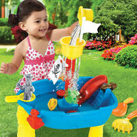 Sand & Water Table Outdoor Garden Sandbox Set Play Table Kids Summer Beach Toy