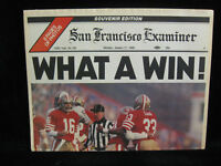 "1985 Joe Montana 49ers Super Bowl XIX San Francisco Examiner Insert ""What a Win"""