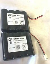 LOT OF 2 HKC High Capacity NiMH Battery, 9.6V, 2400mAh For RC Remote Car Boat