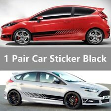 d90b99e68 2pcs Racing Stripe Graphic Stickers Car Body Side Door Vinyl Decals  Universal