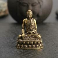Antique Sakyamuni Buddha Statue Pocket Gift Ornament Collectible Micro-Carving