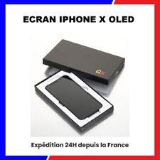 ECRAN IPHONE X OLED RETINA VITRE TACTILE SUR CHASSIS NOIR