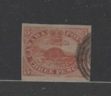 Province of CANADA #4d imperforate thin paper used light cancel