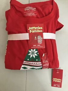 Jammies For Your Families Men's 2-Pc. Christmas Pajama Set Red Size 2XB(APO-76-5