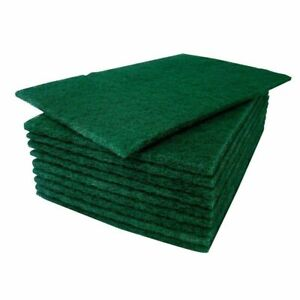 Green Scouring Pads Heavy Duty Abrasive Scourer Catering Scrub Cleaning 22x16cm