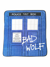 Doctor Who Bad Wolf TARDIS Comfy Throw (BBC Licensed) - Brand New In Packaging