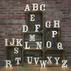 Battery Power Alphabet LED Light Up Circus Letter Names w/ Timer | Home Custom