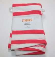 NWT NEW Gymboree Coral & Ivory Striped Leggings Size 5 Girls