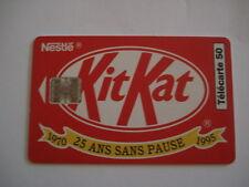 PHONECARD TELECARTE PUBLICITE CHOCOLAT NESTLE KIT KAT