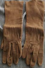 Vintage Awk Supple Leather Vintage Ladies Gloves Size 6.5 - Gdc Chocolate Brown