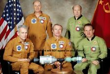 Apollo-Soyuz Test Project Crew PHOTO Joint US Soviet Mission, End of Space Race