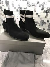 New ALEXANDER McQUEEN Men's Black Suede Ankle Boots Shoes EU43 US 10 $1299 Italy