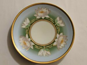 Antique Vintage Thomas Sevres Bavaria Signed Plate Art Deco Water Lily Rare HTF