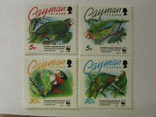 1993 Cayman Islands SC #668-71 WWF GRAND CAYMAN PARROT MNH stamps