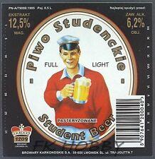 Poland Brewery Lwówek Student Beer Label Bieretikett Etiqueta Cerveza ls50.2