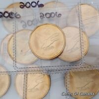 2006 Canada $1 One Dollar Loonie Loon Settling Olympics BU Coin! #coinsofcanada