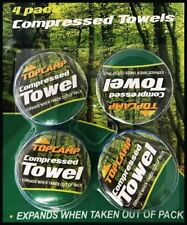 6 COMPRESSED TOWELS CAMPING HIKING FESTIVAL SURVIVAL AID TEATOWEL TEA WASHING