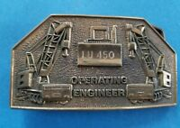 Vintage 1978 Operating Engineer Belt Buckle LU 450 On Bulldozer BBB #8017 Brass