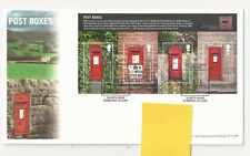 GB FDC 2009 Post Boxes m/s