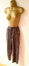 Zara Animal Leopard Trousers pant Size L
