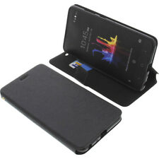 CUSTODIA PER ZTE Z MAX Z982 book-style protettiva cellulare a libro nero