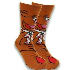 Jim Henson's FOZZY BEAR THE MUPPETS 360° socks colourful UK Size 5-10 (1 pair)