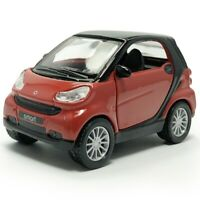 1:36 Smart Model Car Diecast Toy Vehicle Pull Back Doors Open Kids Gift Red