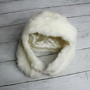 TCP Baby Girl Ear Flap Trapper Hat Infant Size 18 24 Months Off White Faux Fur