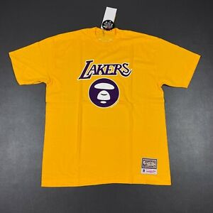 100% Authentic Aape x Mitchell Ness Lakers T Shirt Size XL 48 Mens