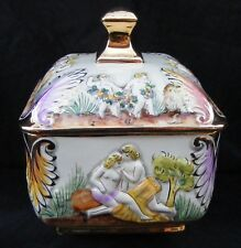 S.A.Leart Co ELPA ALCOBACA Portugal Luster Ware Nude Naked Beach Compote Pottery