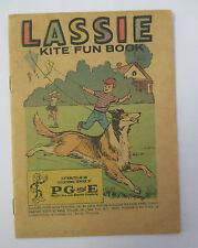 1973 LASSIE KITE FUN BOOK Educational Comic from PG&E with Reddy Kilowatt