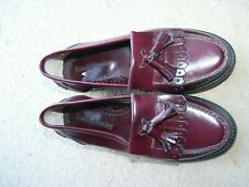 Russell & bromley ladies loafers shoes Tassel Brown Burgundy size eu 35 uk 2.5
